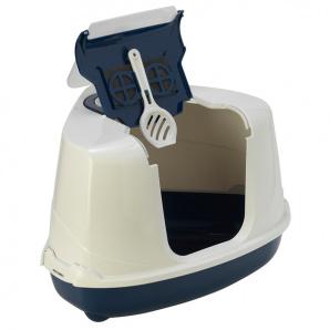Туалет Moderna Flip Corner для котов 56х45х39 см Темно-синий