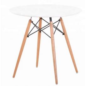 Маленький стол обеденный Тауэр-Вуд круглый 60 см белый