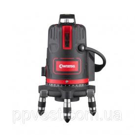 Уровень лазерный 5 лазерных головок, красный лазер INTERTOOL MT-3004