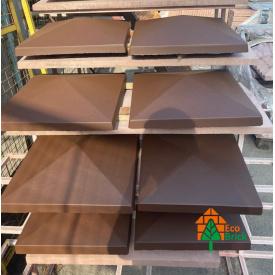 Крышка для забора коричневая 450х450 мм
