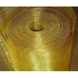 Сетка тканая латунная 1,2 х 0,4 мм
