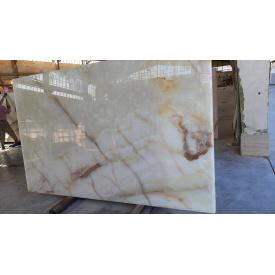 Салатово білий онікс в слябах 20 мм