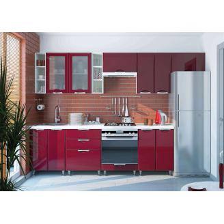 Кухня Софія Люкс комплект 2м бордо Сокме