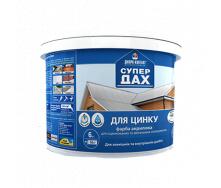 Фарба акрилова для оцинкованих поверхонь SUPER DAX коричнева 6 кг