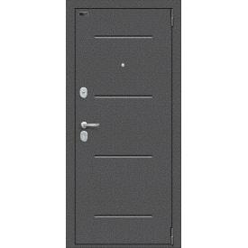 Вхідні двері ELPorta S-2 104 / П22 | Колір: Антик Срібло - Bianco Veralinga