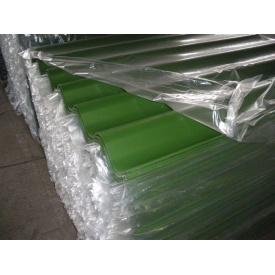 Шифер цветной безасбестовый FIBRODAH зеленый 1х1,130м
