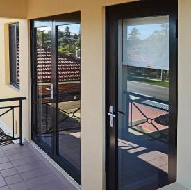 Теплые алюминиевые двери SY W70 (850x2050 мм)