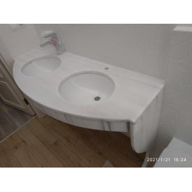 Стільниця з мармуру для ванної кімнати 1500х650х30мм