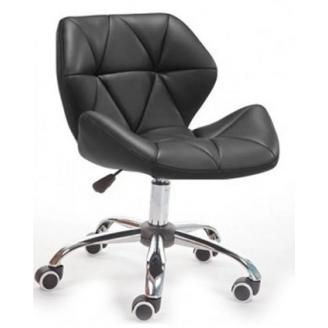 М`яке крісло Стар Нью SDM на коліщатка хром колір чорний