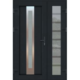Металлопластиковые фасадные двери m-1226 1200х2050 мм Антрацит