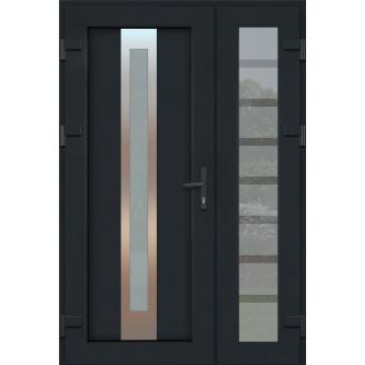 Металопластикові фасадні двері SP 25 Антрацит