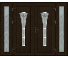Металопластикові фасадні двері m-+1246 1200х2050 мм Антрацит