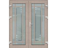 Двері вхідні металопластикові Termoplast Plus М-3 з куванням 1170х2050 мм