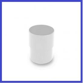 З`єднувач труби INES 80 мм білий