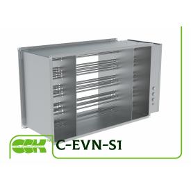 Электрический канальный воздухонагреватель для прямоугольных каналов С-EVN-S1