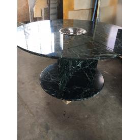 Стол из мрамора круглый диаметр 1500мм с встроенным грилем
