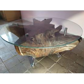 Декоративный стол из пня