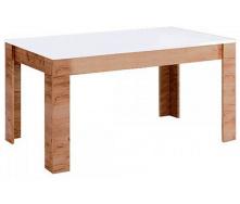 Стіл обідній Асті 160х95 білий глянець / дуб крафт Миро-Марк