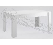 Стіл обідній Терра 160х95 білий глянець + чорний мат Миро-Марк