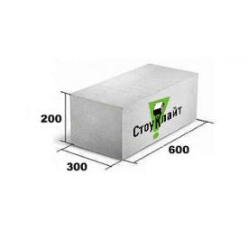 Газоблок Стоунлайт 300x200x600 мм 1 сорт