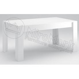 Стол обеденный Виола 160х95 белый глянец + черный мат Миро-Марк
