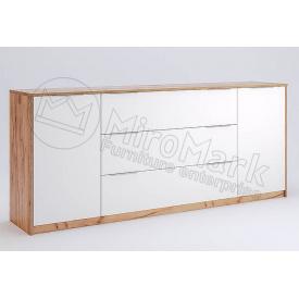 Комод Асті 2.0м 2Д 3Ш білий глянець / дуб крафт Миро-Марк