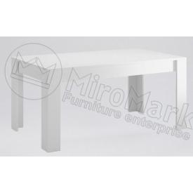 Стол обеденный Терра 160х95 белый глянец + черный мат Миро-Марк