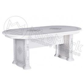 Стол обеденный Чикаго Белый глянец Миро-Марк