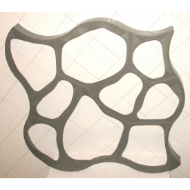 Форма для садовой дорожки Круглые Камни 80x80x6 см