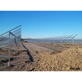 Комплект креплений солнечных панелей 4А-20 для наземной станции на геошурупах