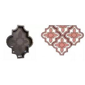 Форма для тротуарной плитки Клевер пластмассовая 4,5 см 26,7х16,5 см