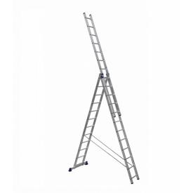 Алюминиевая трехсекционная лестница 3 х 12 ступеней (универсальная)