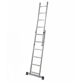 Алюминиевая двухсекционная лестница 2 х 6 ступеней (универсальная)