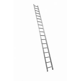 Алюминиевая односекционная приставная усиленная лестница на 18 ступеней (полупрофессиональная)