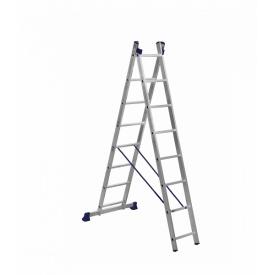 Лестница алюминиевая двухсекционная 2 х 8 ступеней (универсальная)
