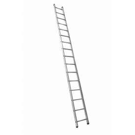 Алюминиевая односекционная приставная лестница на 16 ступеней (универсальная)