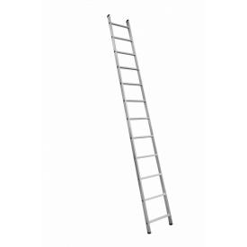 Алюминиевая односекционная приставная усиленная лестница на 12 ступеней (полупрофессиональная)