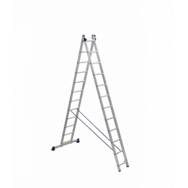 Лестница алюминиевая двухсекционная 2 х 12 ступеней (универсальная)
