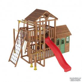 Деревянный детская площадка WOODEN TOWN №11 Д * Ш * В - 6,7м * 5,0м * 3,5М