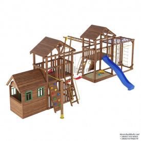 Деревянный детская площадка WOODEN TOWN №13 12М * 7,9М * 3,5М
