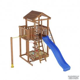 Деревянный детская площадка WOODEN TOWN №05 Д * Ш * В - 4,0 м * 3,8м * 3,5М
