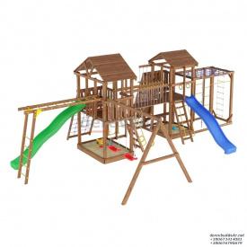 Деревянный детская площадка WOODEN TOWN №14 10М * 6,1М * 3,5М