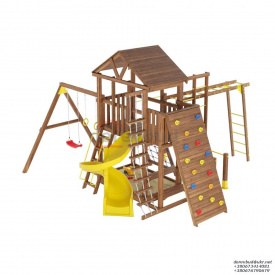Деревянный детская площадка WOODEN TOWN №12 Д * Ш * В - 5,2м * 5,2м * 3,5М