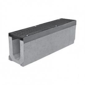 Лоток бетонный с чугунной решеткой ЛВ 20.30.30