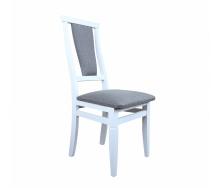 Деревянный стул Чумак 1010х430х440 мм белый с мягким сидением