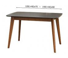 Стіл обідній Модерн Мікс Меблі 120 (+40) х 75 см бук венге