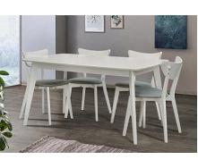 Стіл Обідній Модерн Мікс Меблі 120 (+40) х75 см бук білий
