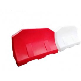 Дорожный барьер водоналивной пластиковый красный 1.2 (м)