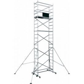 Вышка тура алюминиевая ВТ6 базовый комплект с двумя надстройками