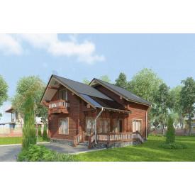 Дом из профилированного бруса 140х180 мм Проект D-18 7,4 x 11,6 м